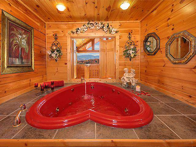 Heart Shaped Jacuzzi Tub