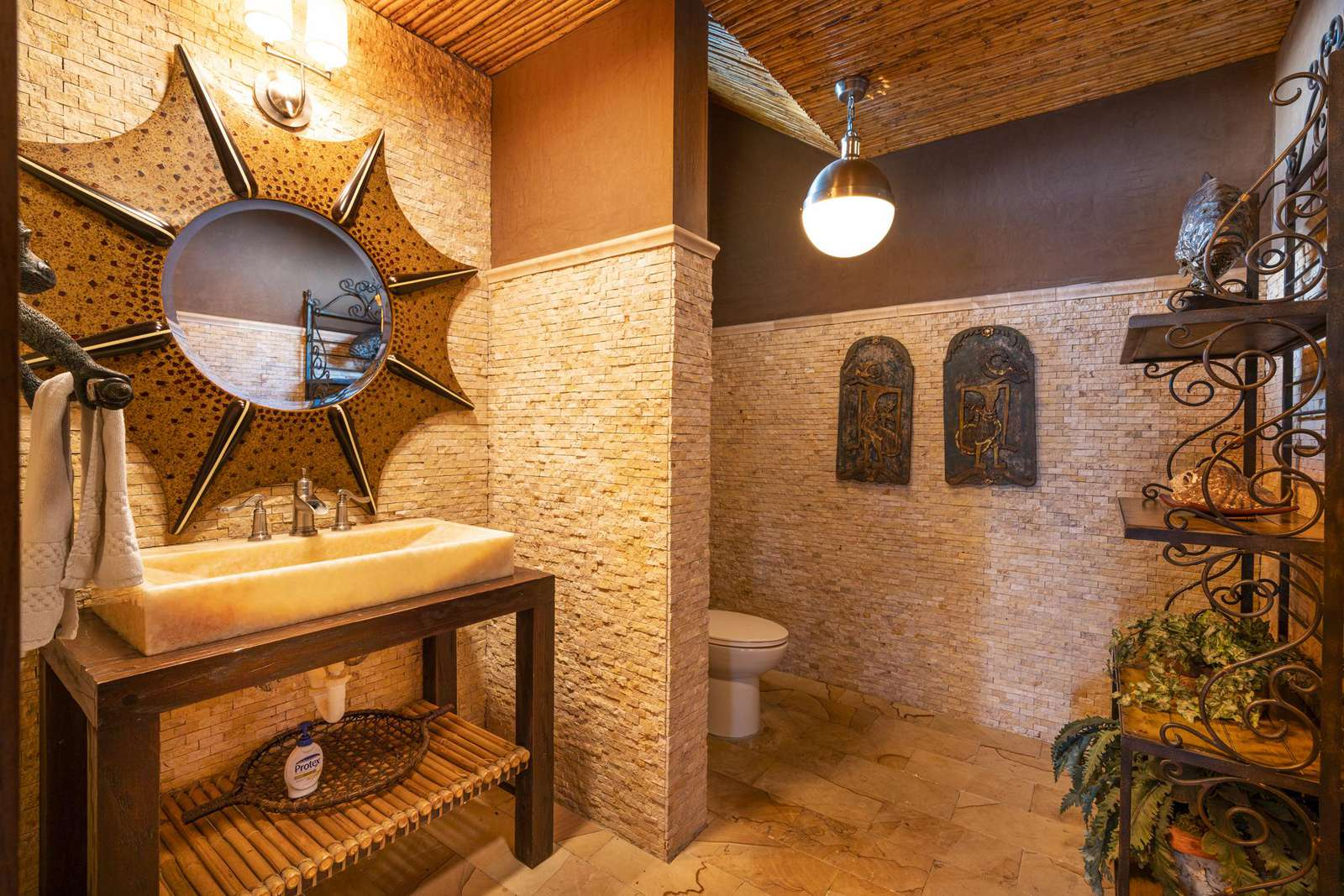 Guest half bathroom on main level