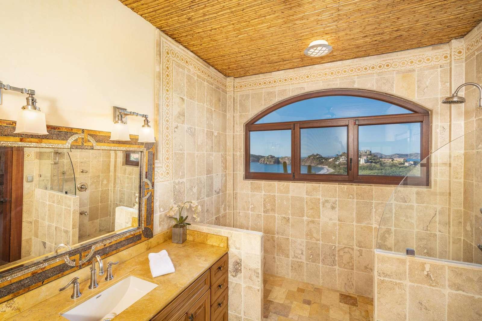 Private full bathroom, dual vanity, walk in shower