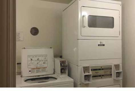Coin opp laundry area