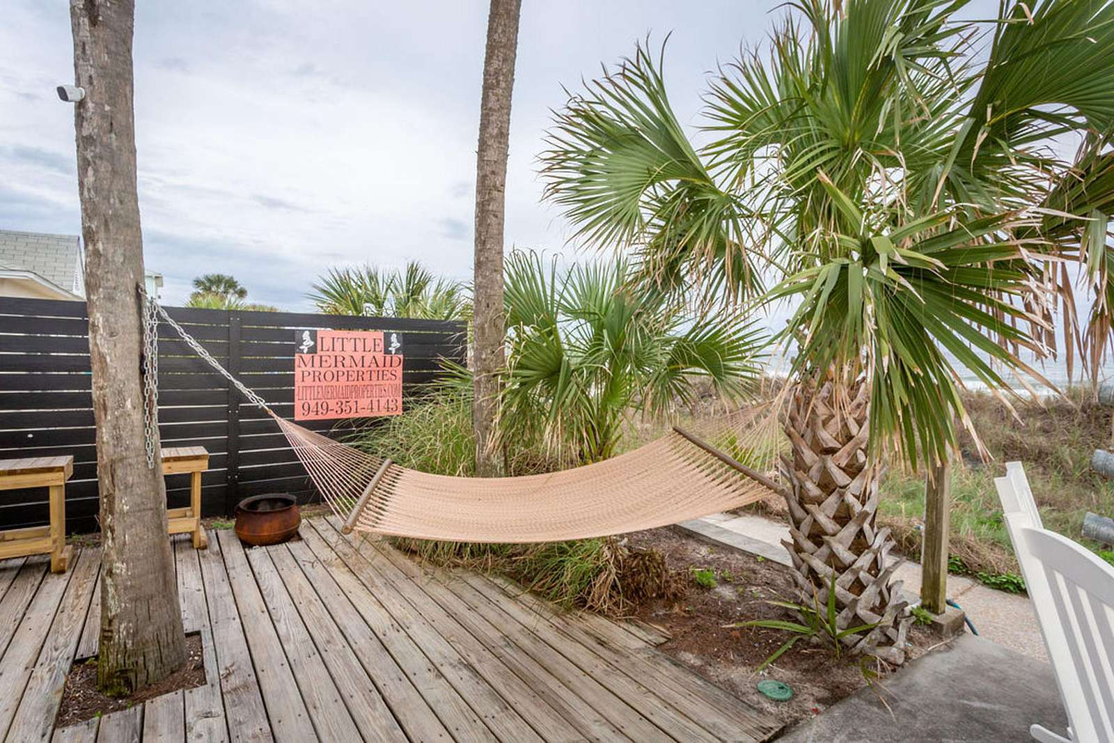 hammock for relaxing overlooking gulf