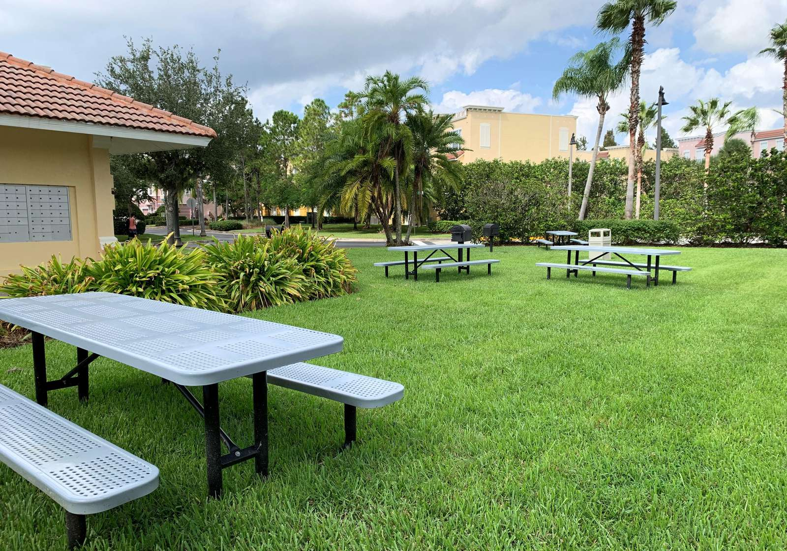 Picnic area and grills