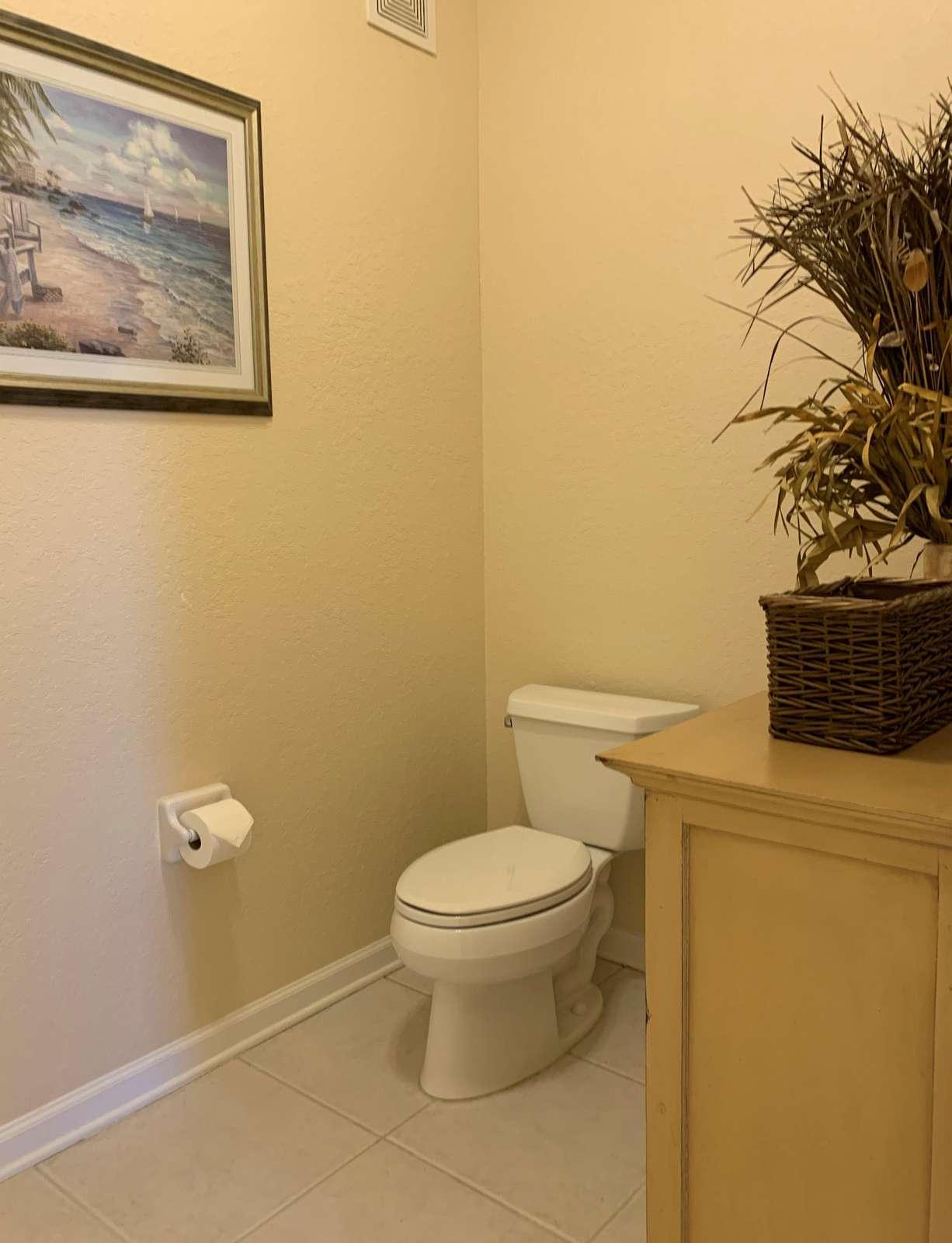 Toilet area master bathroom