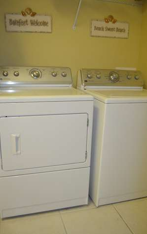 Full capacity washer and dryer in the unit