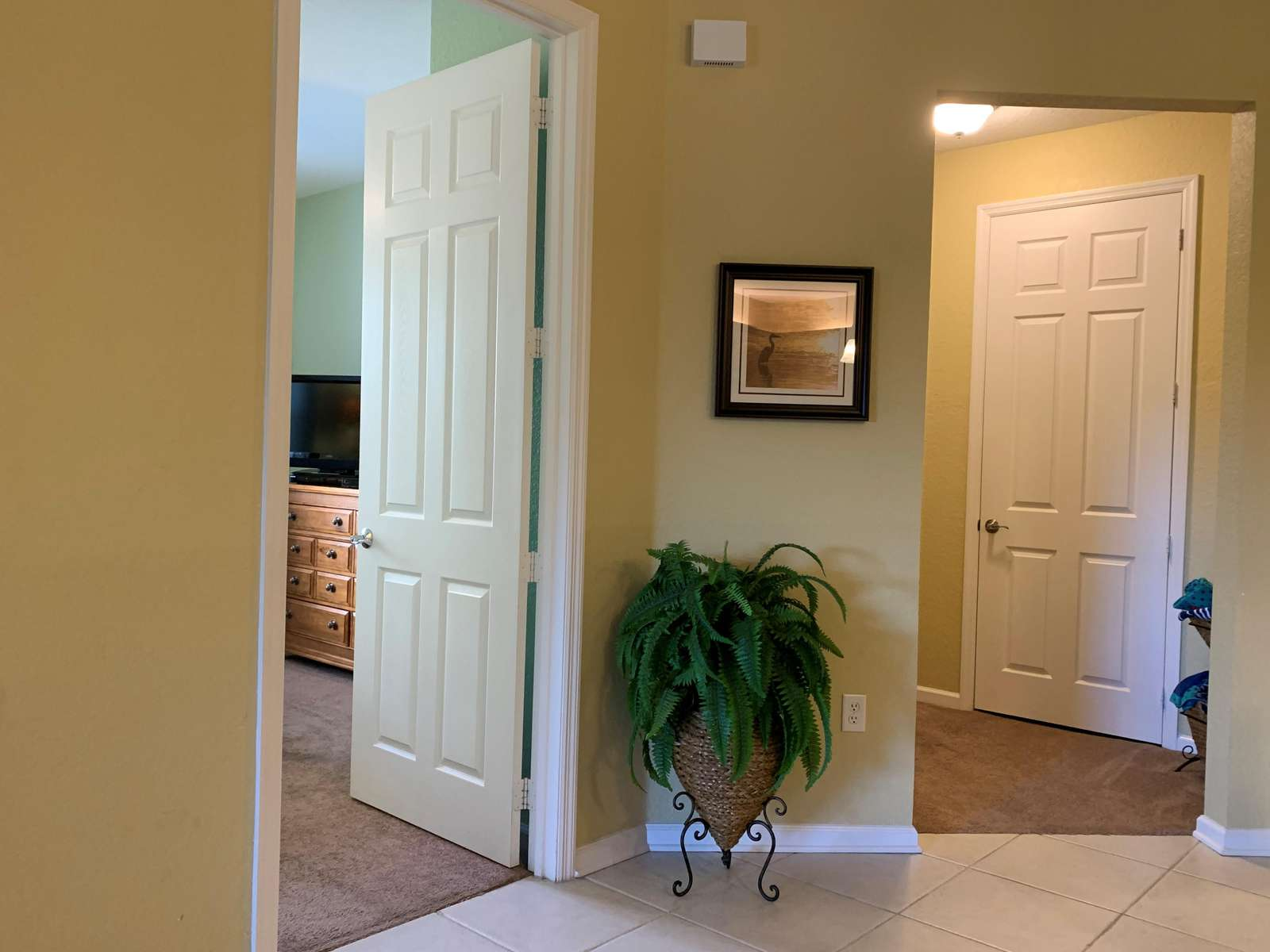 Guest rooms and guest bathroom located separately from master bedroom