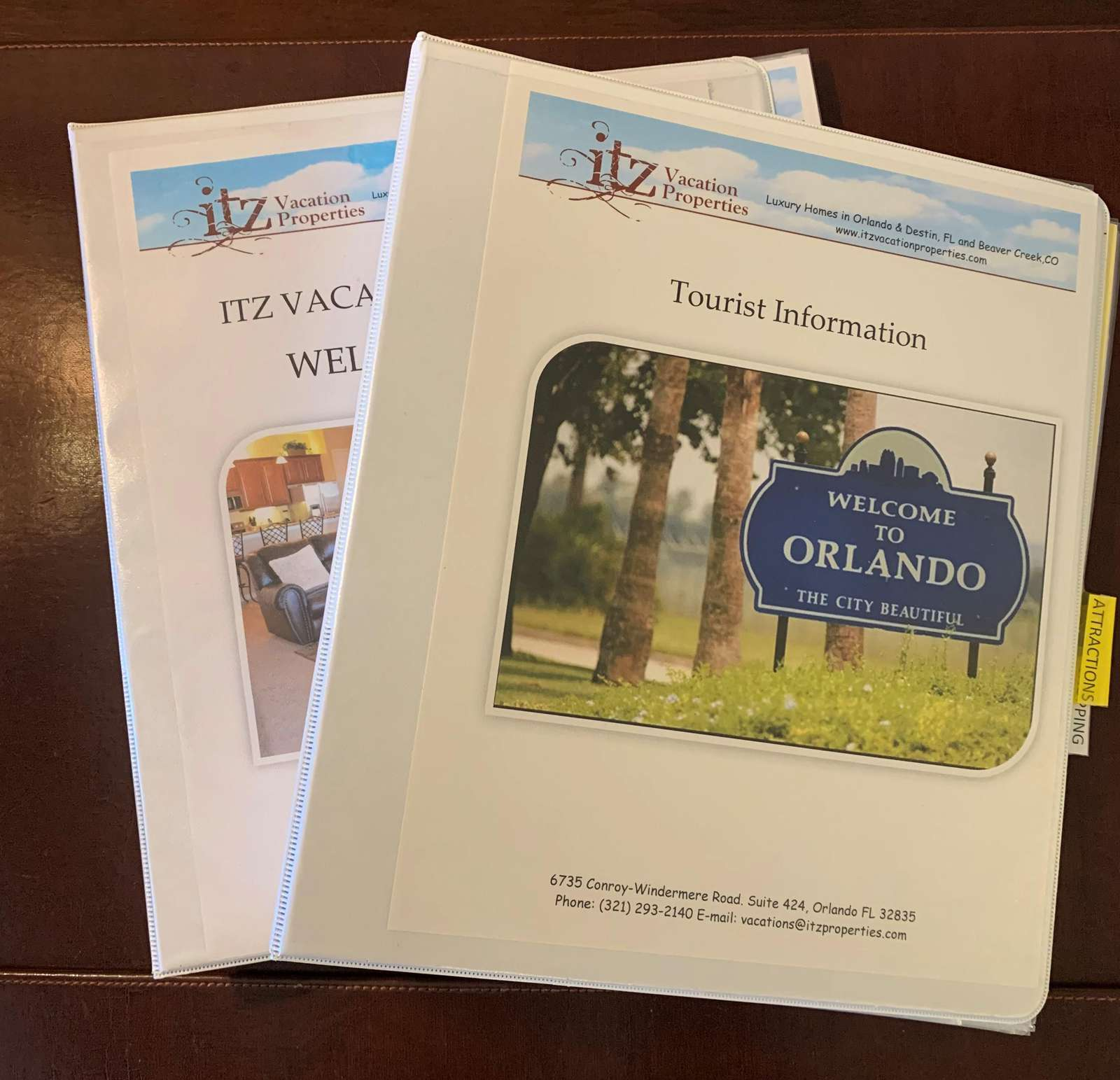 Booklets with important information to make your stay comfortable
