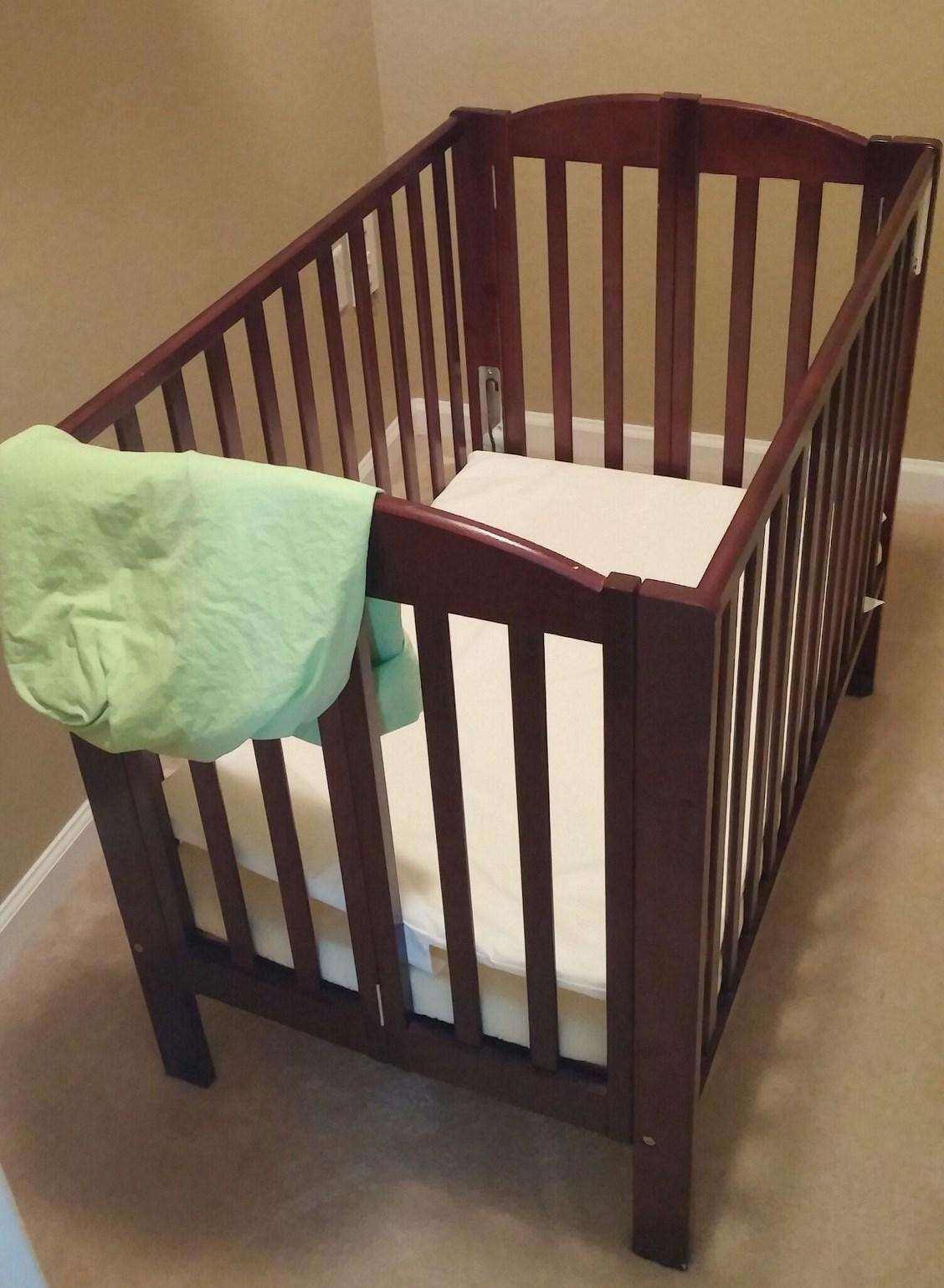 Crib at unit for your little one to have a comfortable sleep