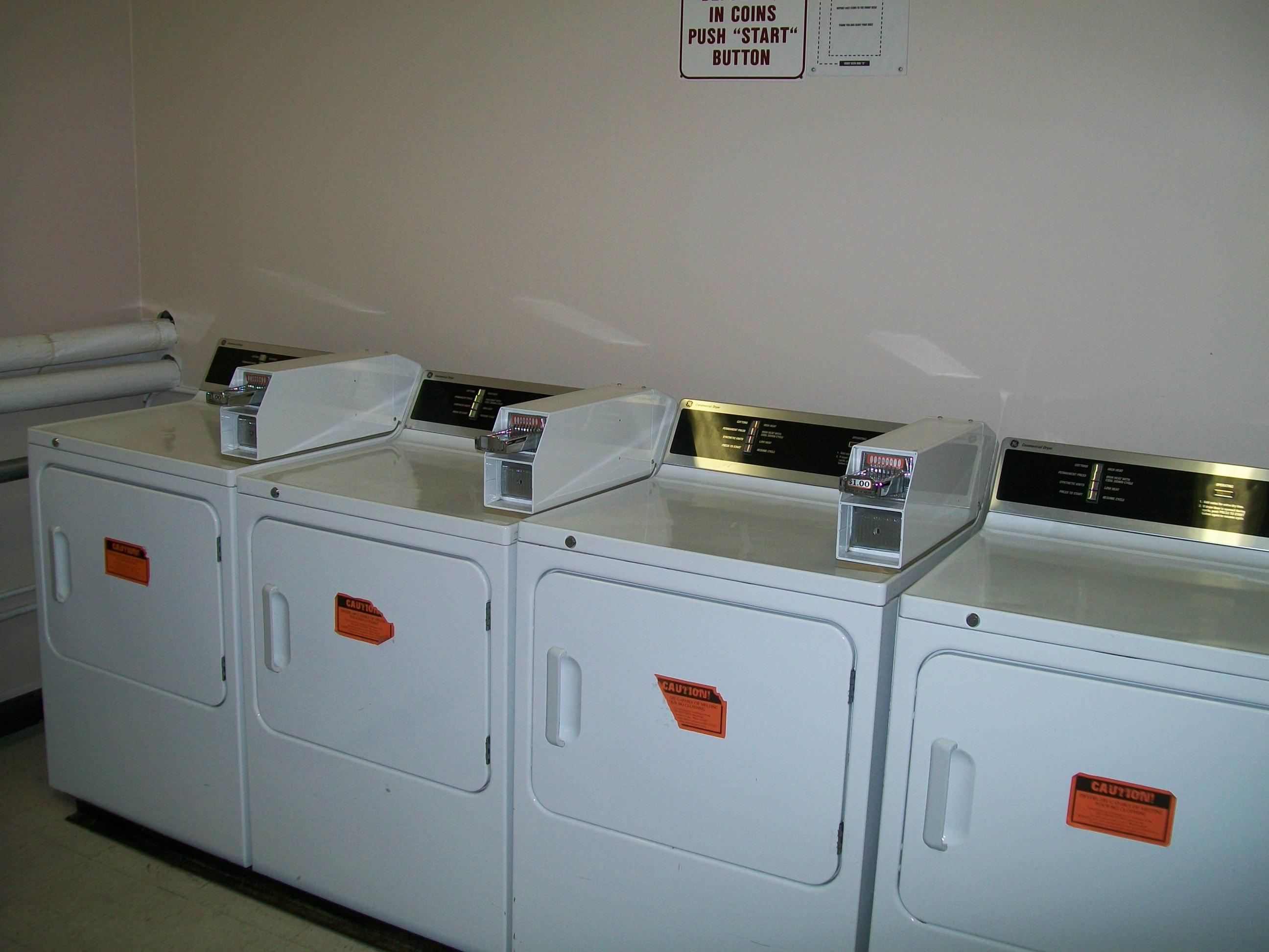 Community (coin) washer/dryer is just down the hallway