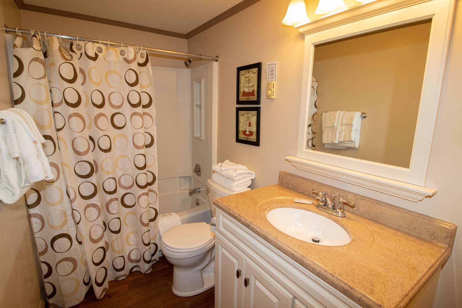 Enlarged bathroom - remodeled in 2015!