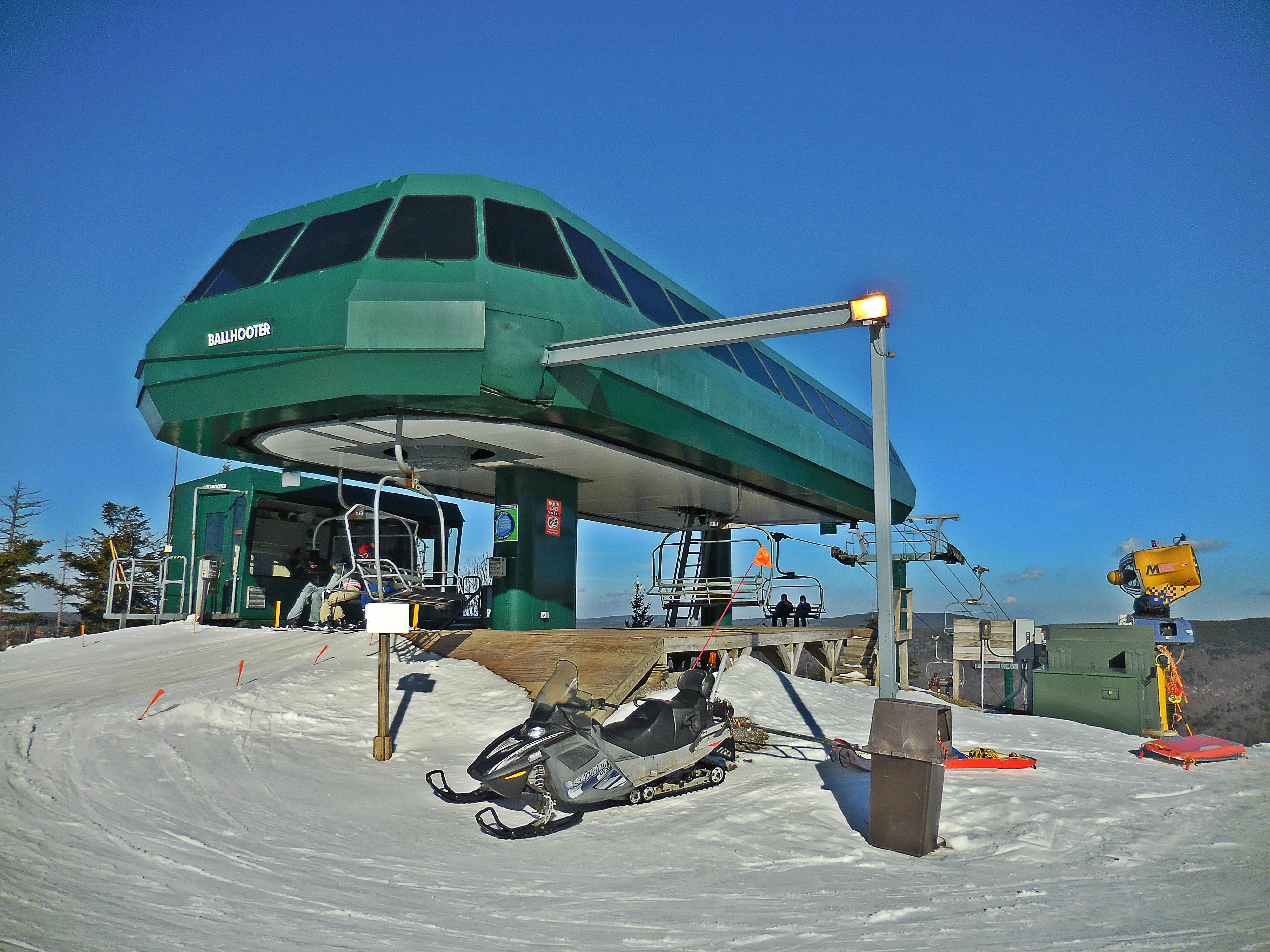 You'll be thirty yards away from the Ballhooter high-speed chair lift!