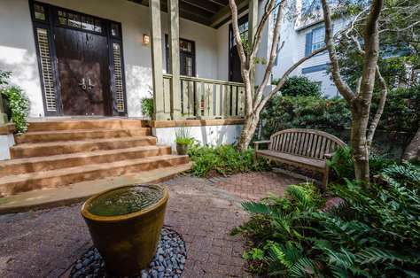 Entrance to the home - Shady and beautifully landscaped private courtyard