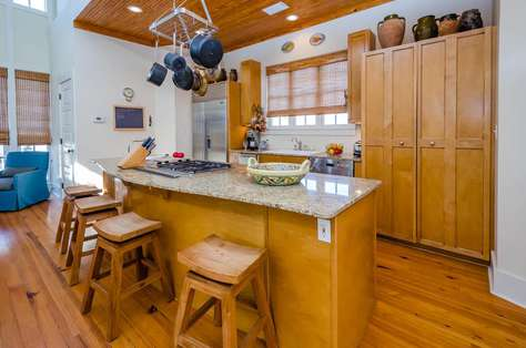 Large, open kitchen features Thermador Gas Range, separate ice maker and everything you will need for family meal preparation