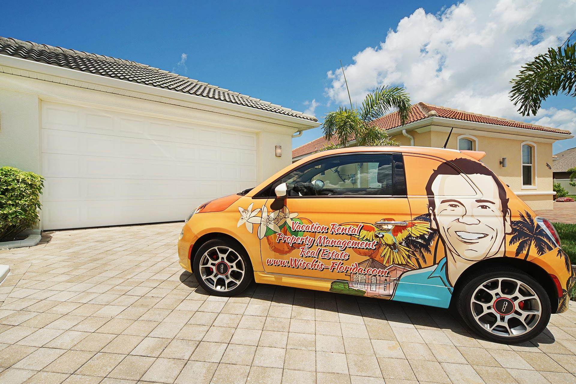 Wischis Florida Home - Vacation Rentals Cape Coral I Property Management I Real Estate I Wischis Fiat 500