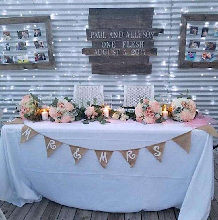 Celebrating beautiful wedding