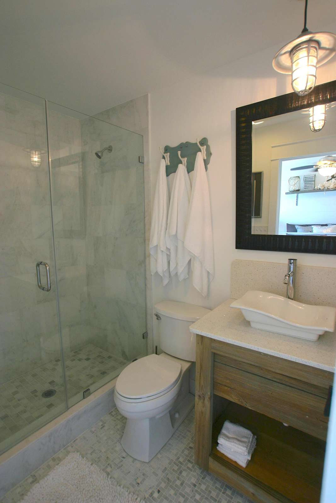 one of nine bathrooms