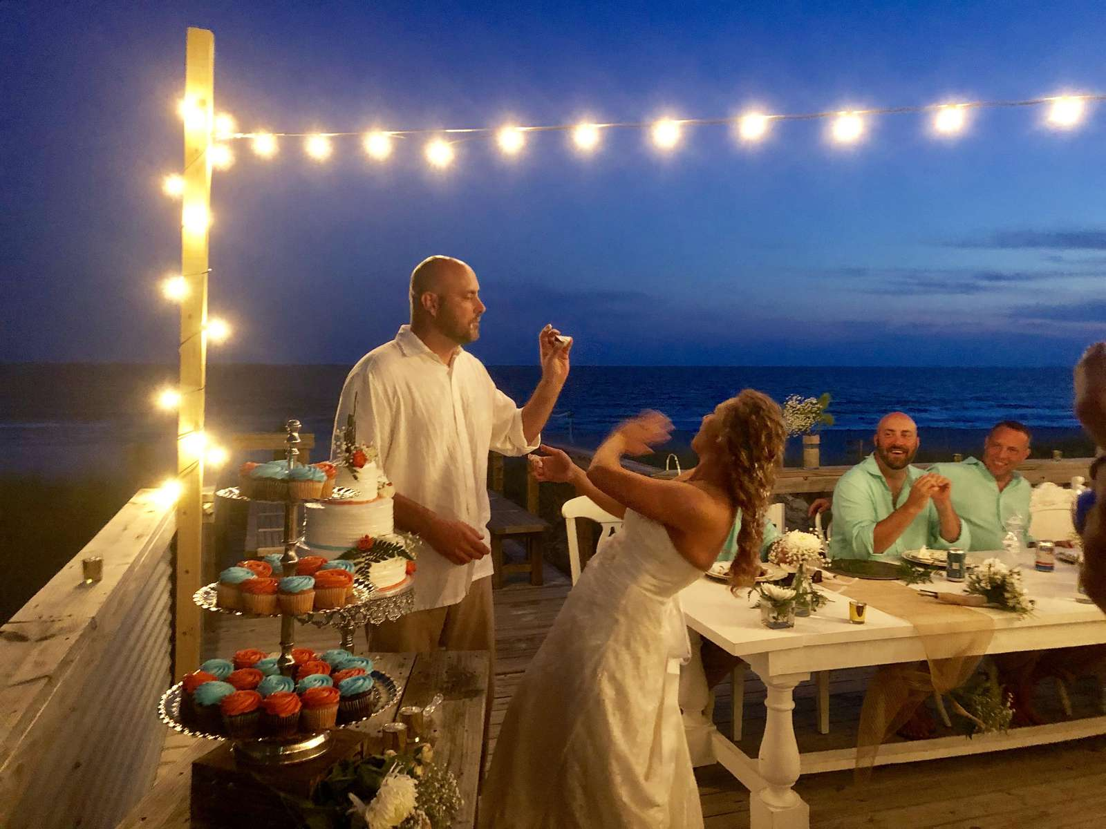 Wedding reception on the deck of the Quiet Lady