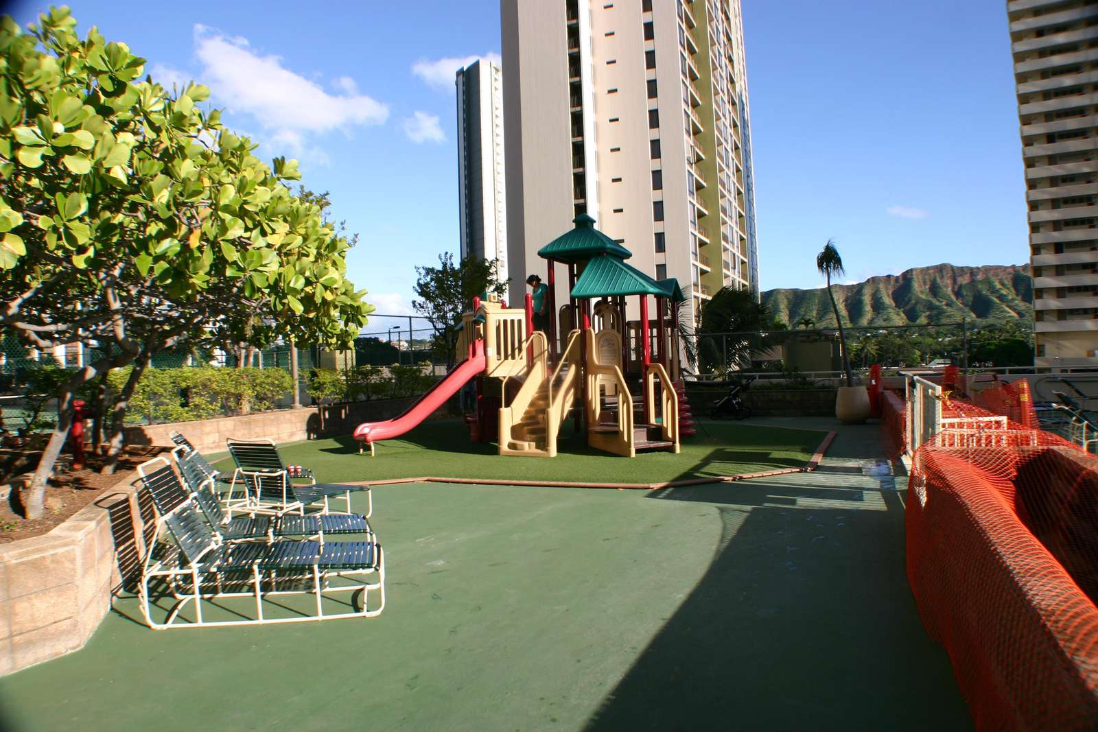 kids area on the recreation deck