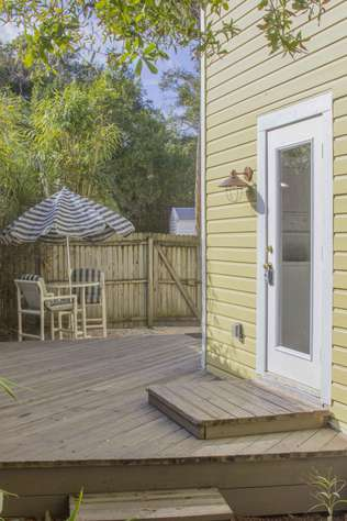 Ground level deck/entry door
