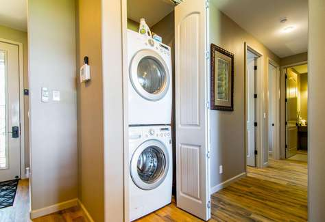 Full size washer and dryer in the unit for your use