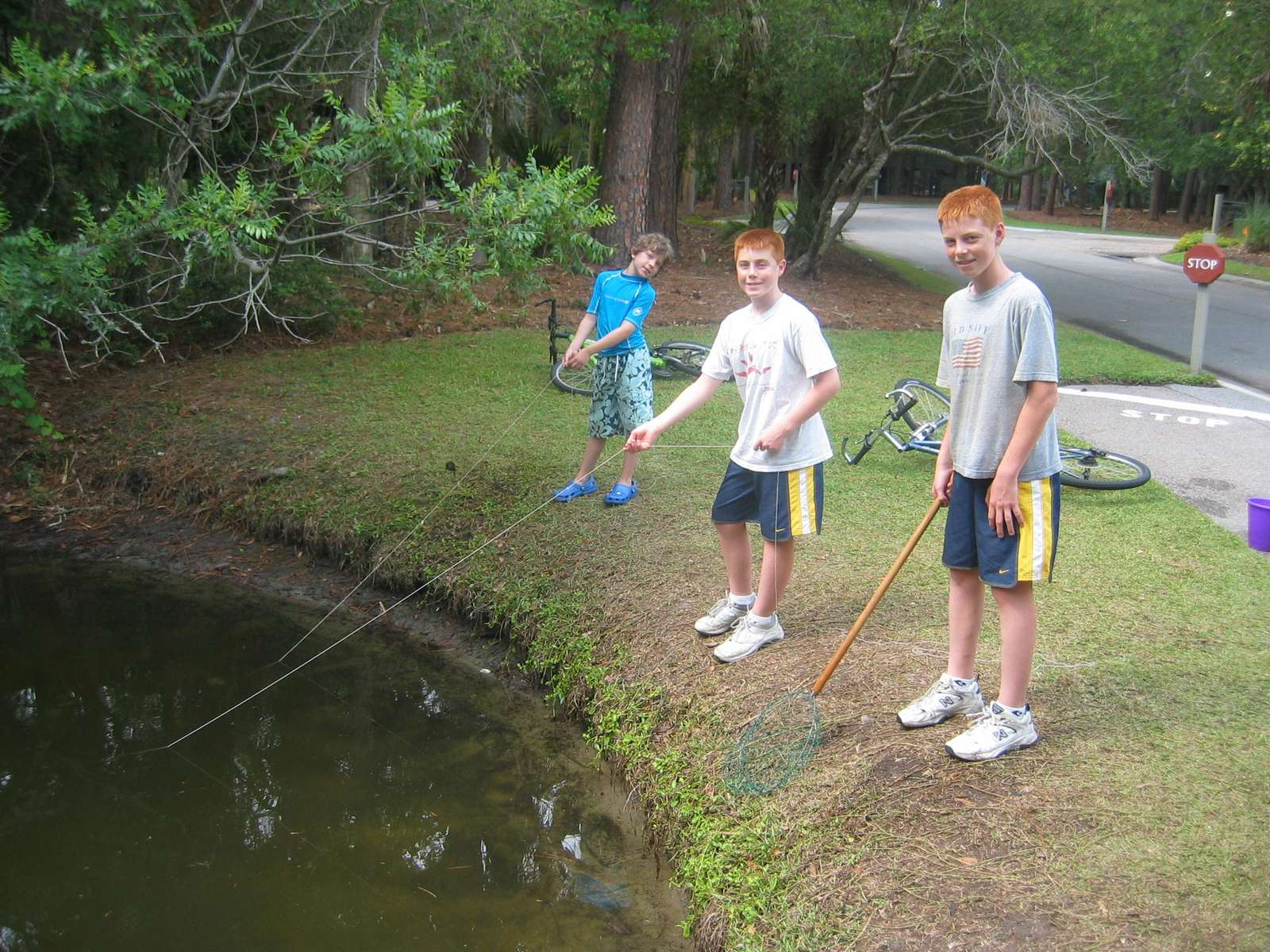 Crabbing in the Lagoons