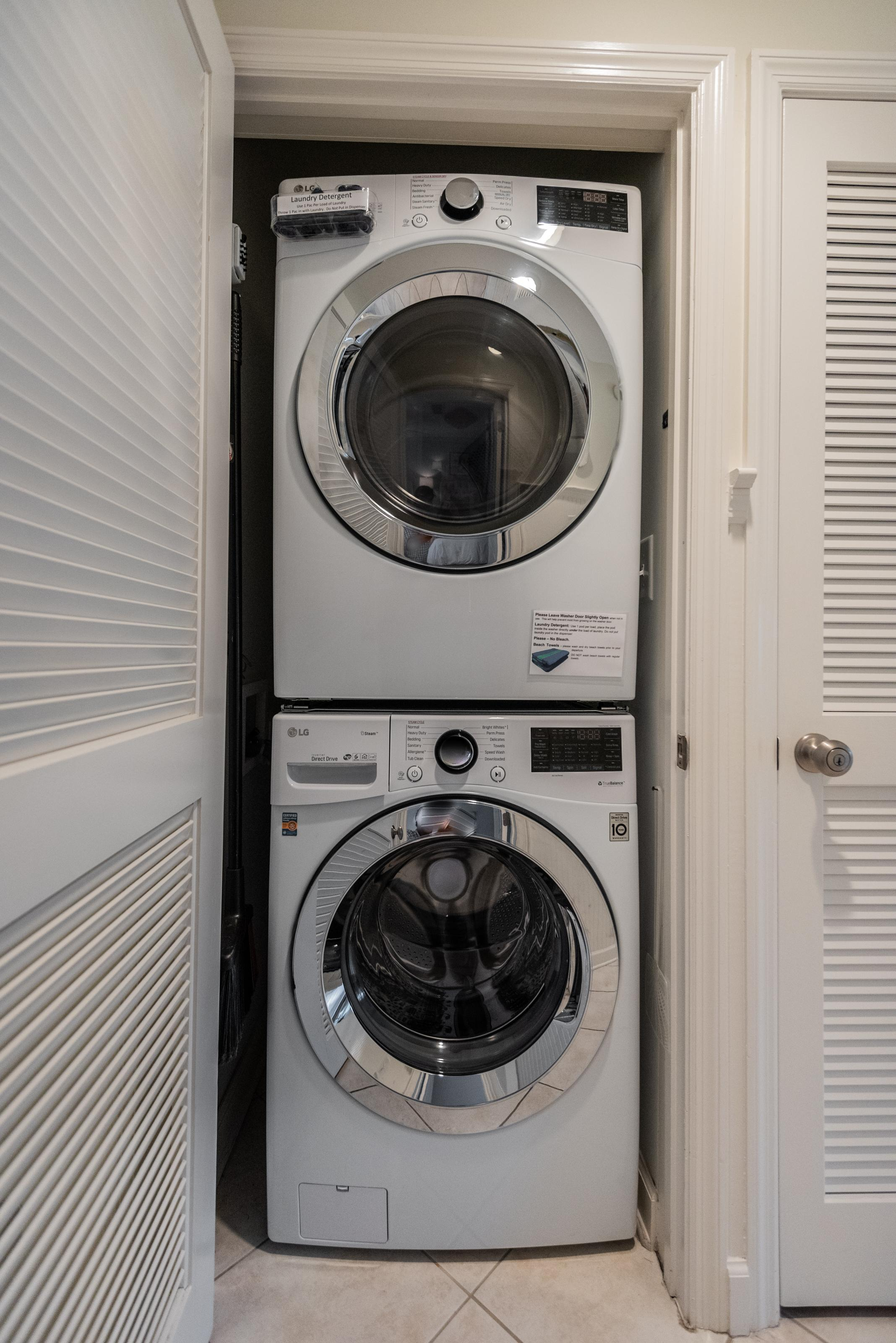 Washer and Dryer inside the Villa