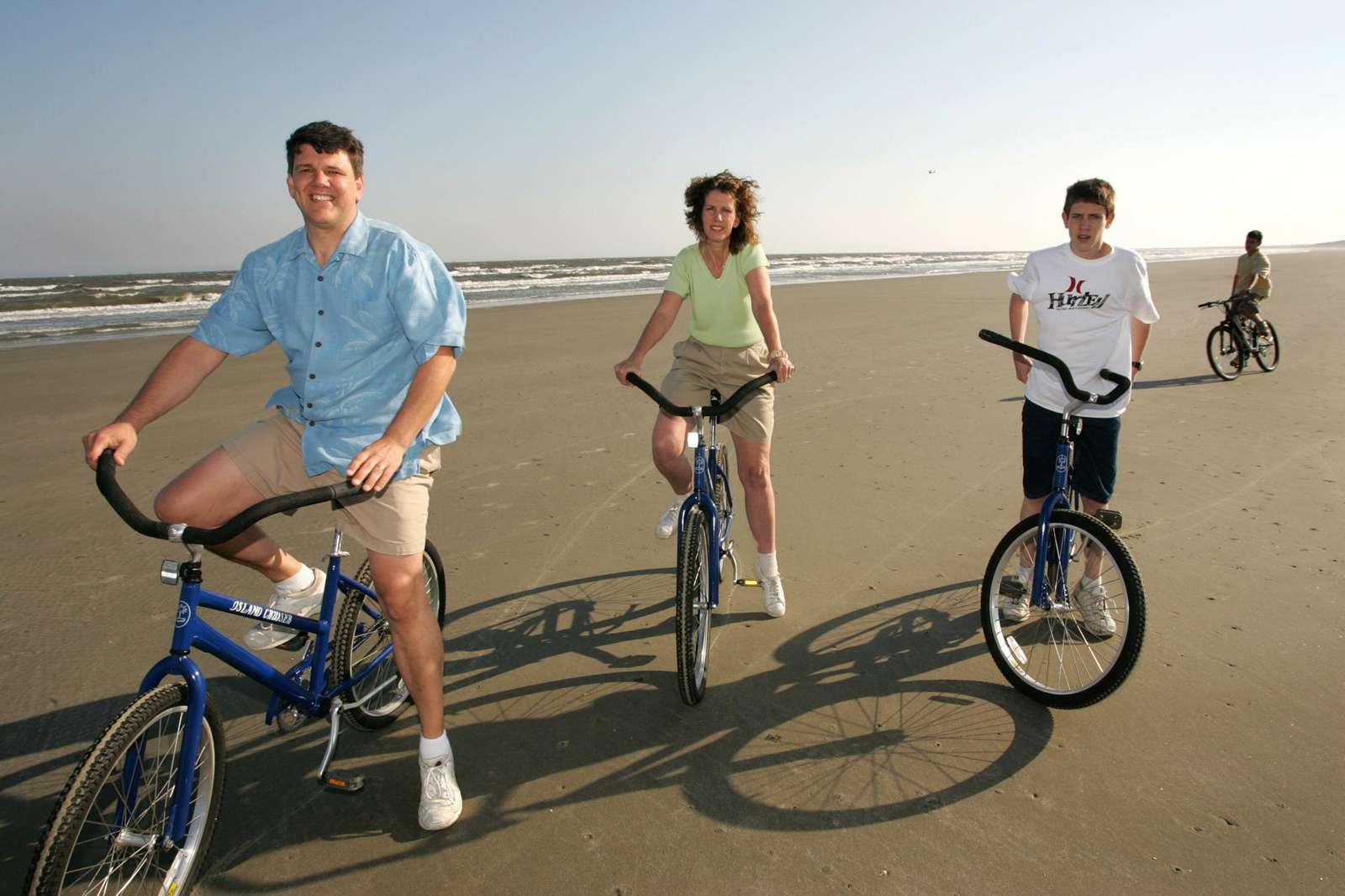 Biking on the Beach