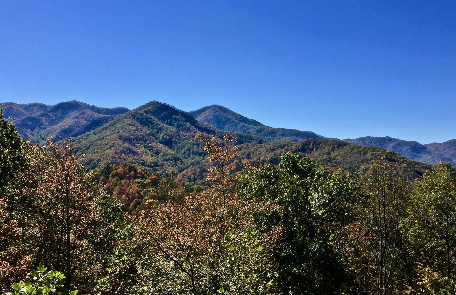 The Long Range Mountain Views are so Peacefully Present (photo taken from the deck).