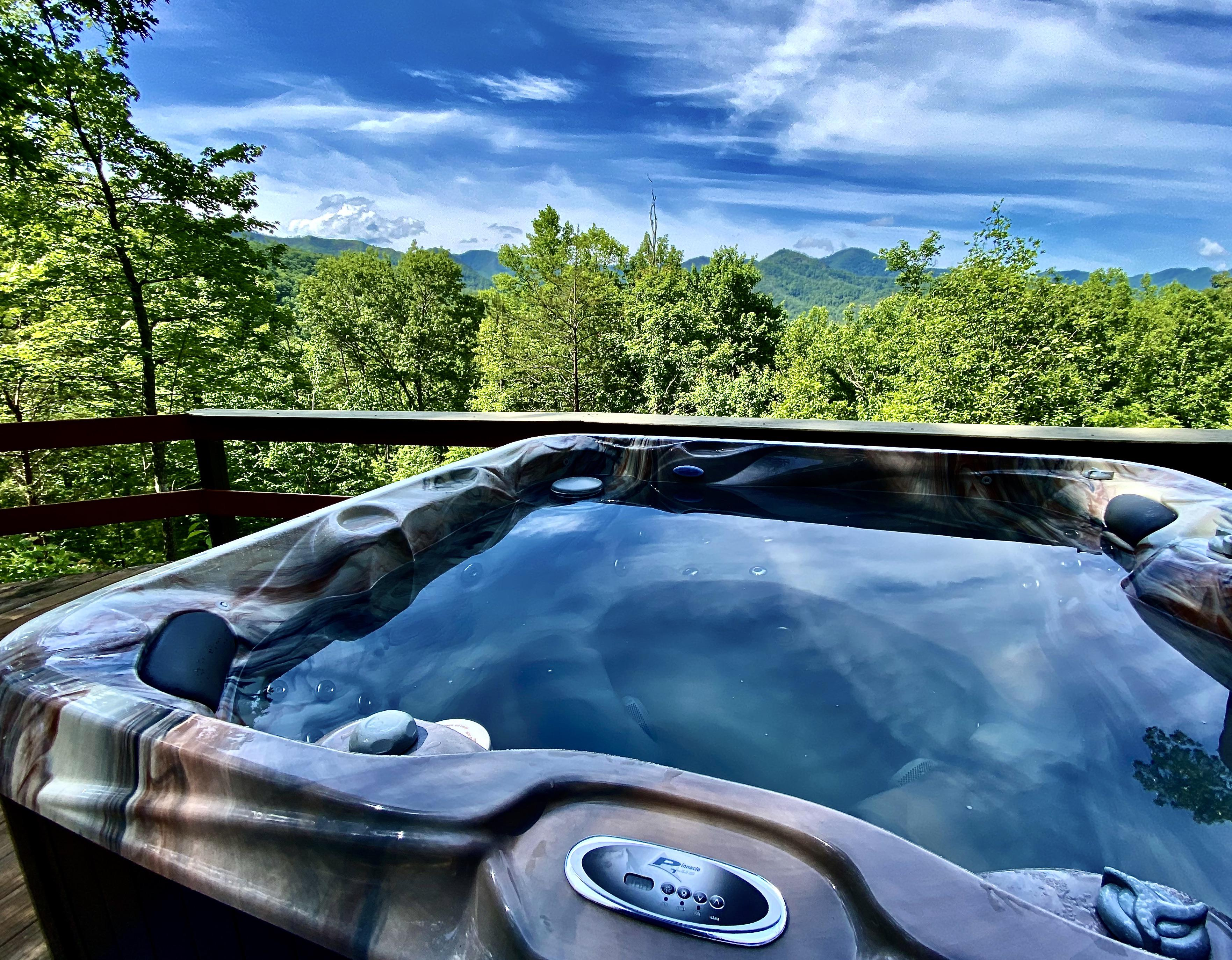 Star Gazing while relaxing in the New (2020) and Sparkling Hot Tub is Magical...