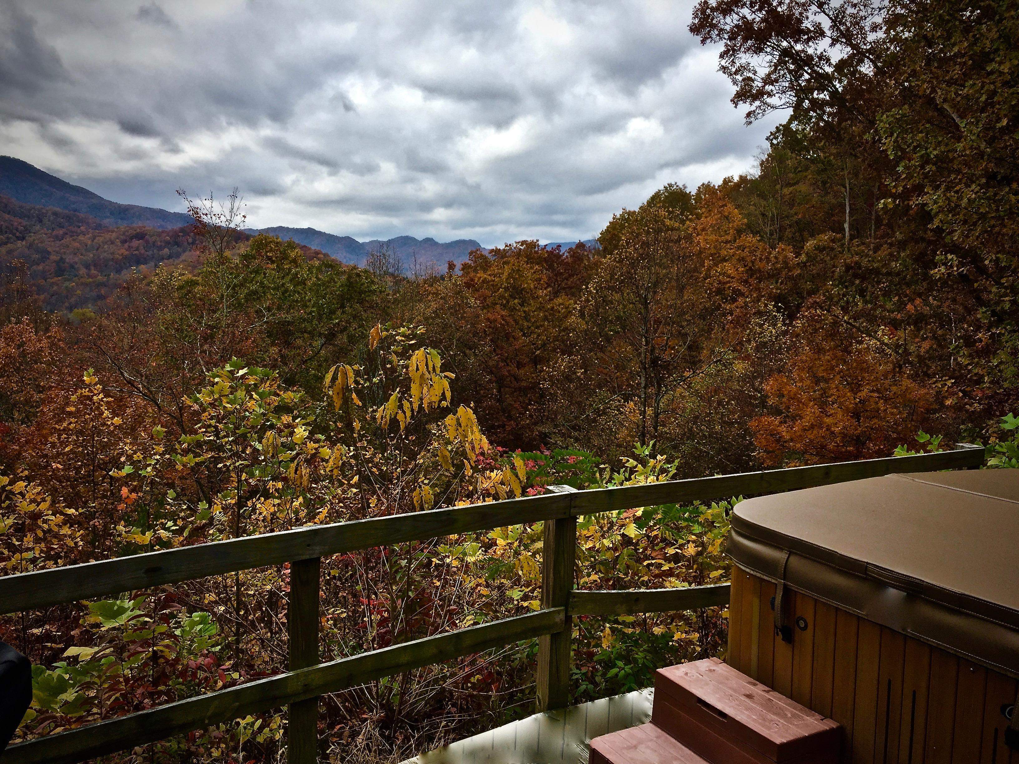 View from the Hot Tub deck on a Cloudy Day. Nature is always altering the Landscape...