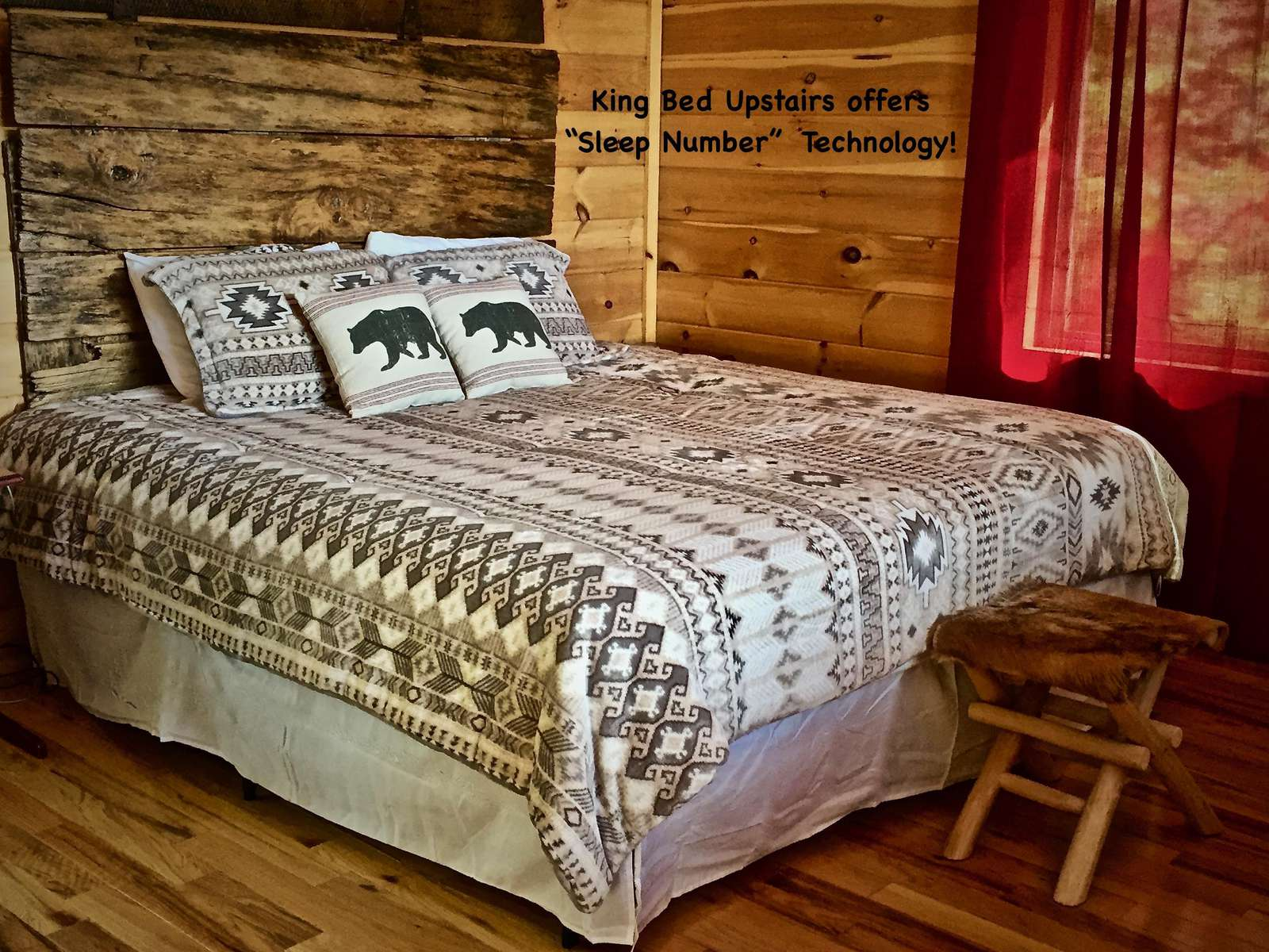 """King Bed offers """"Sleep Number"""" technology with dual controls."""