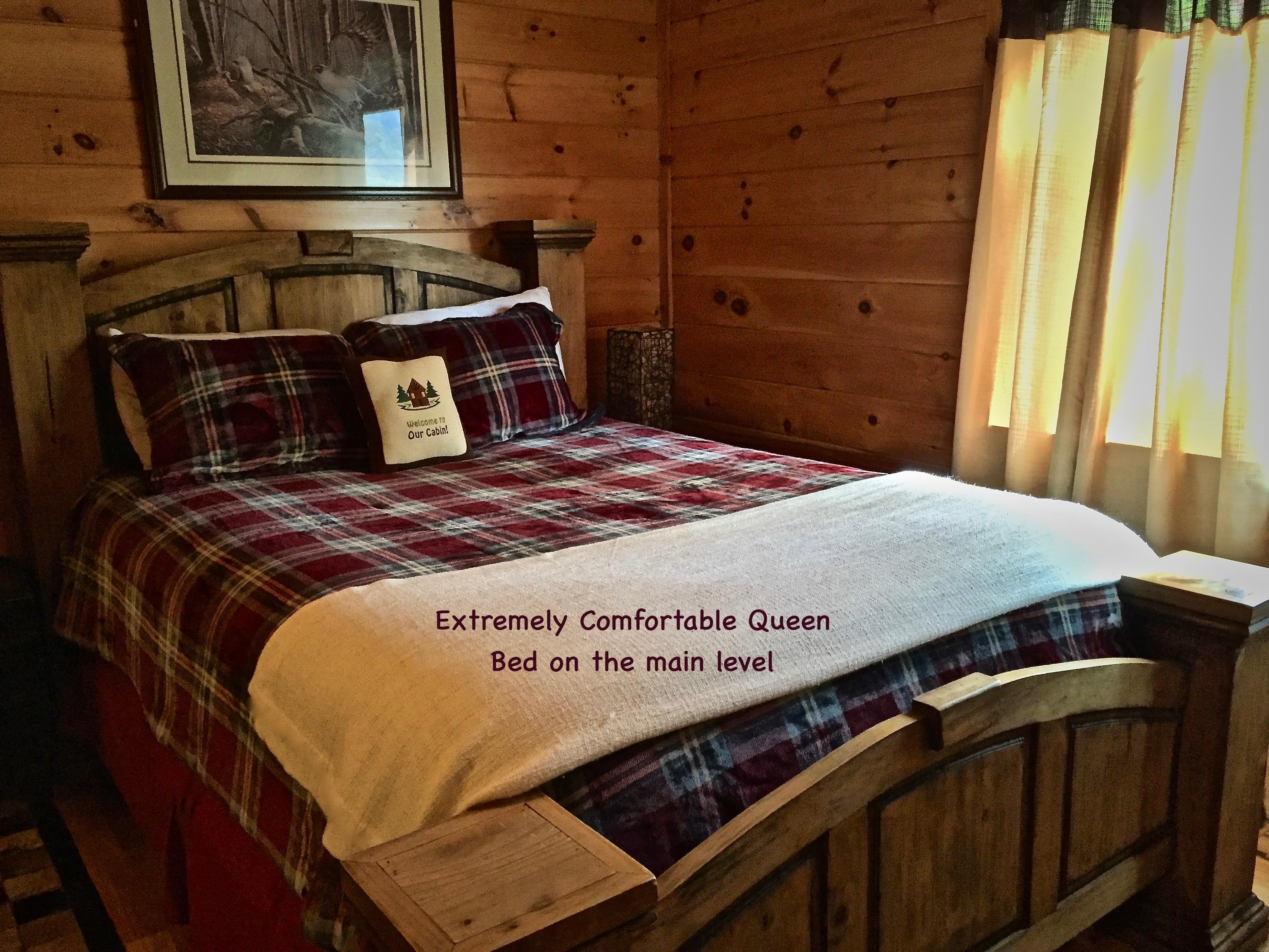 Comfortable and Updated Queen Bed on the main level