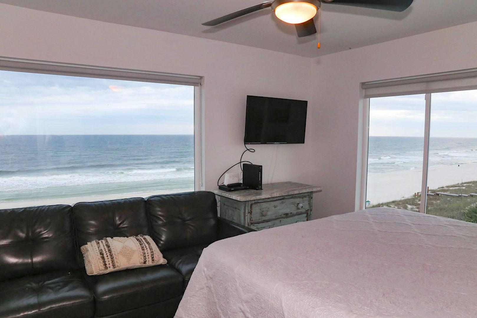 BR # 8 ocean view king bed with bath, flat screen
