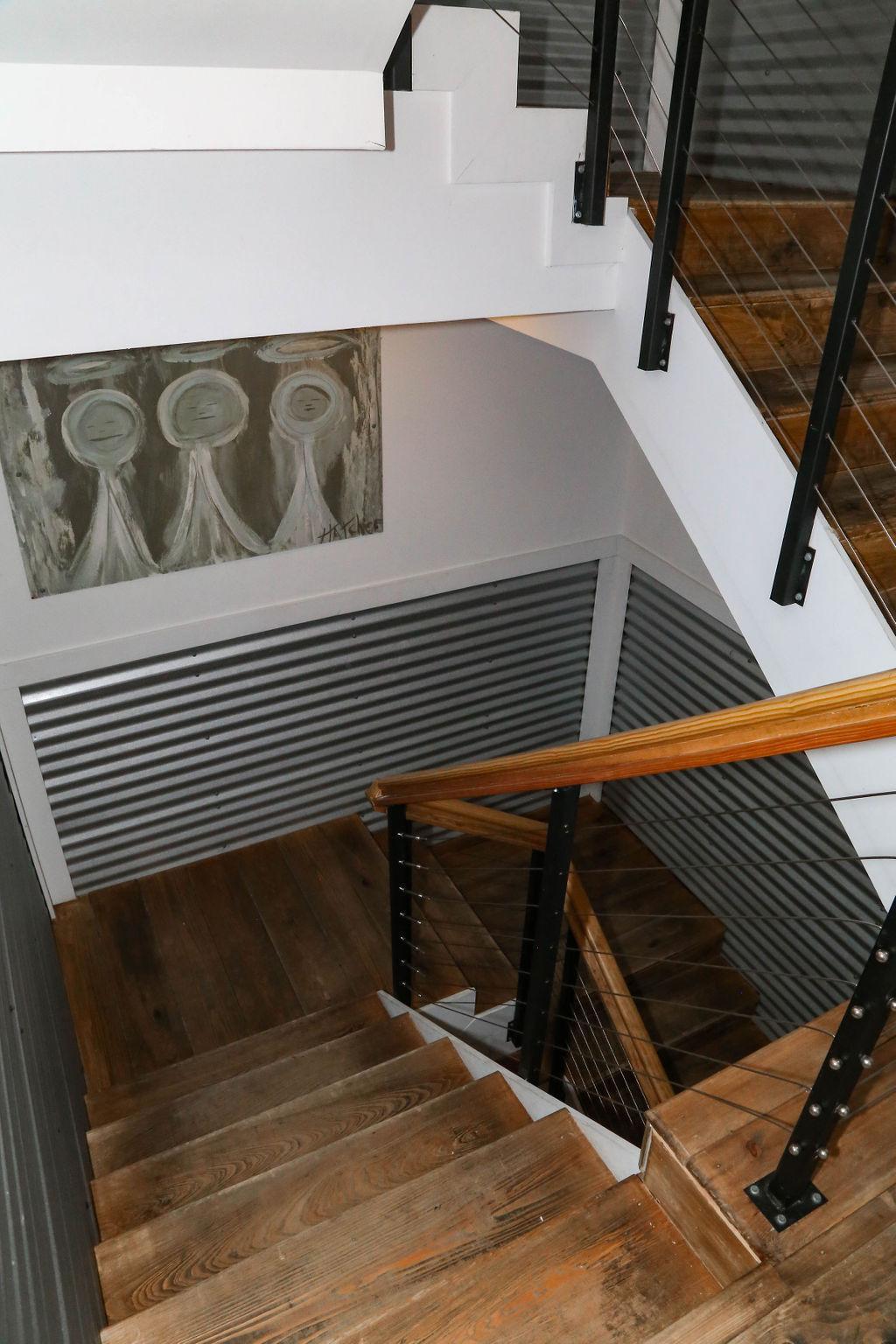 stairwell with custom art