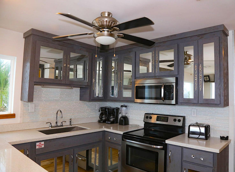 kitchen with 2 refrigerators