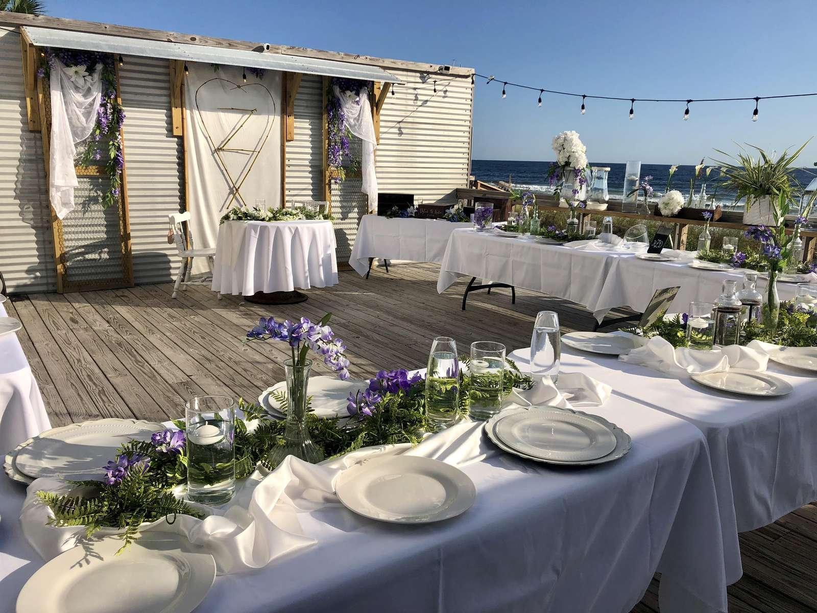 Wedding Reception on the back deck