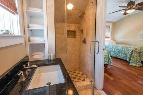 Private Bathroom upstairs in loft bedroom.
