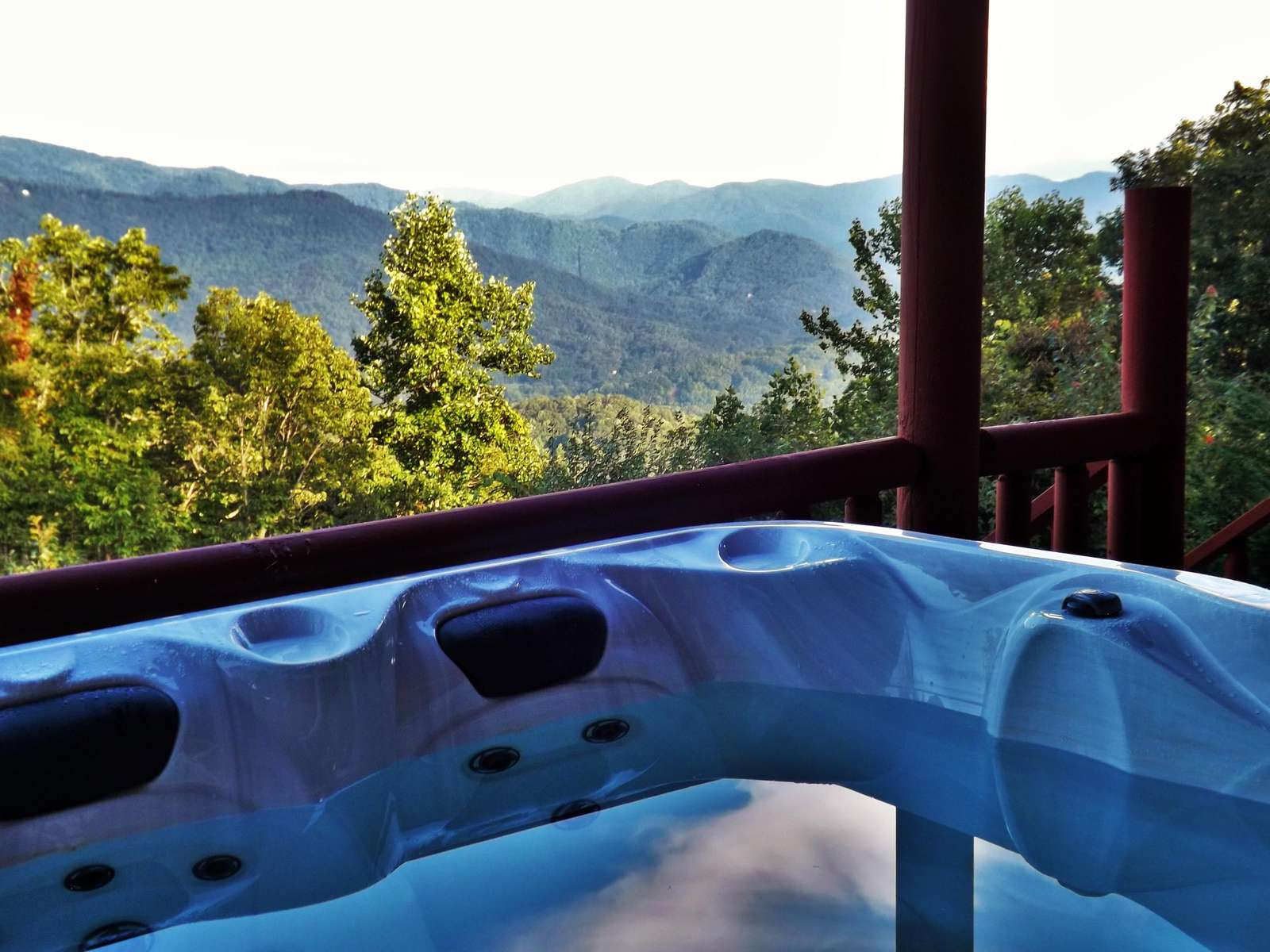 Therapeudic Hot Tub with Smoky Mountain Views