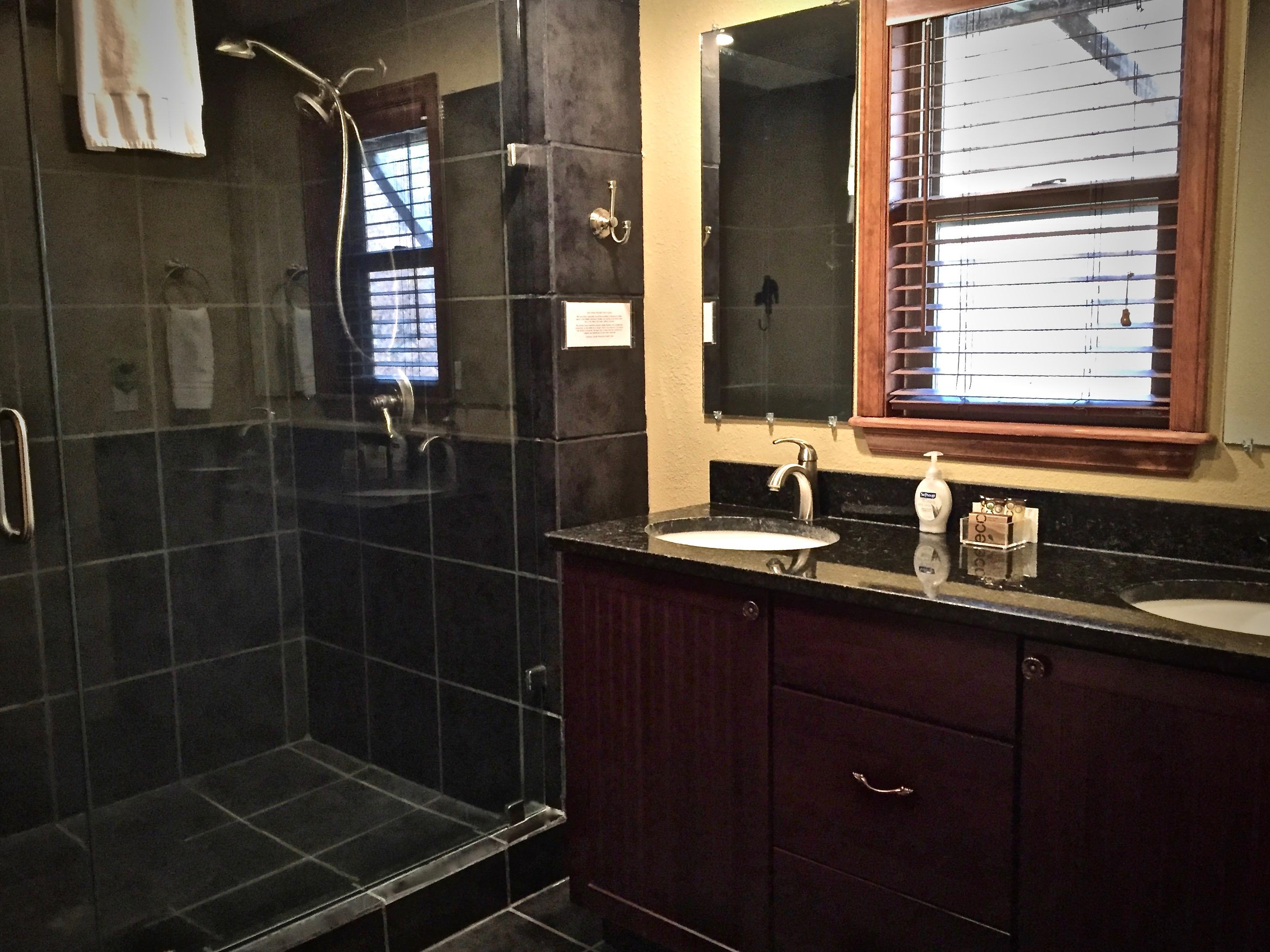 En-Suite Master Bathroom offers large shower with dual shower heads