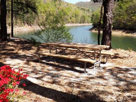 Lake Fontana is just a few short minutes via Private Road