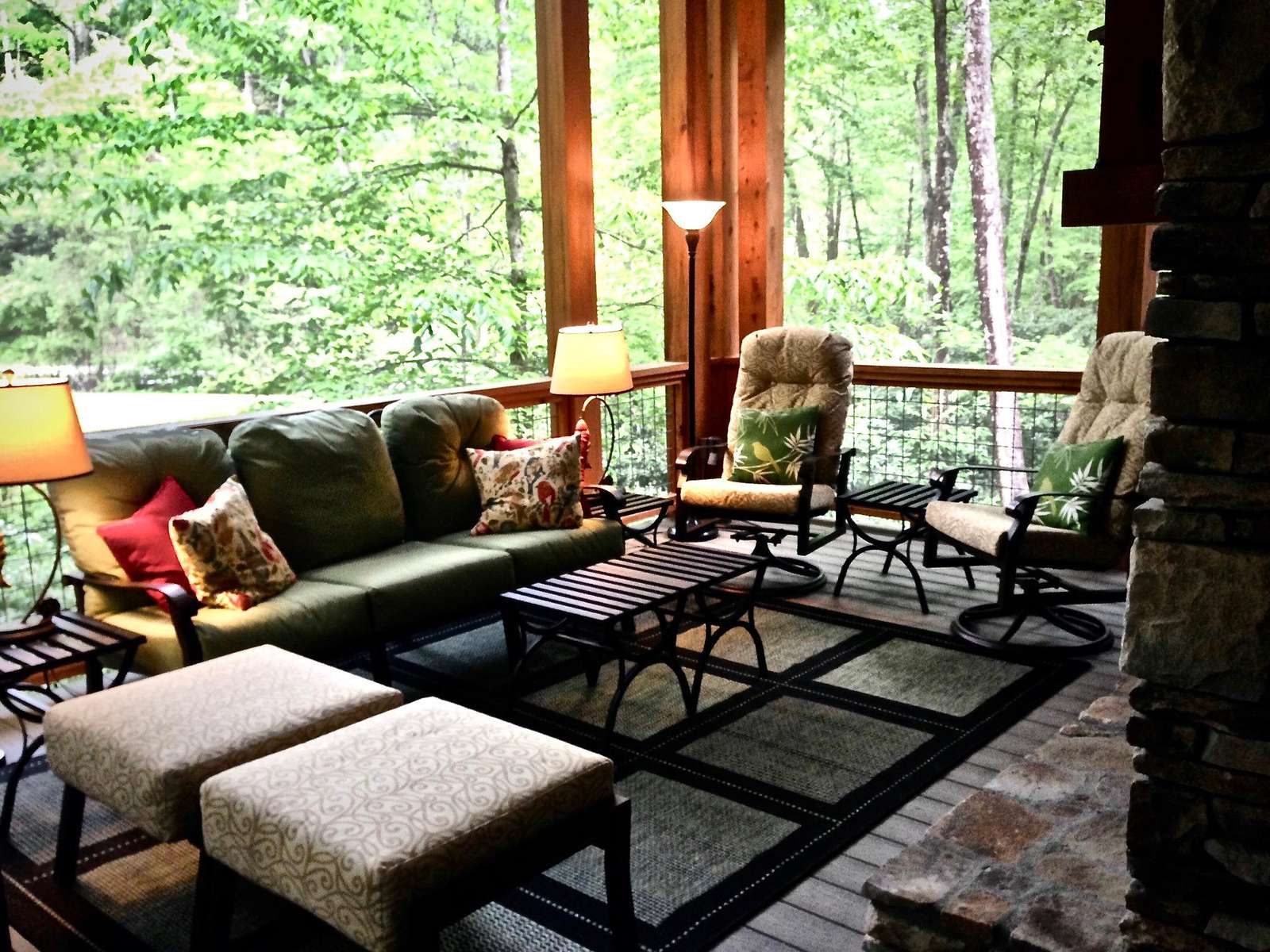 Screened Room is Perfectly Placed along the Melodious Creek