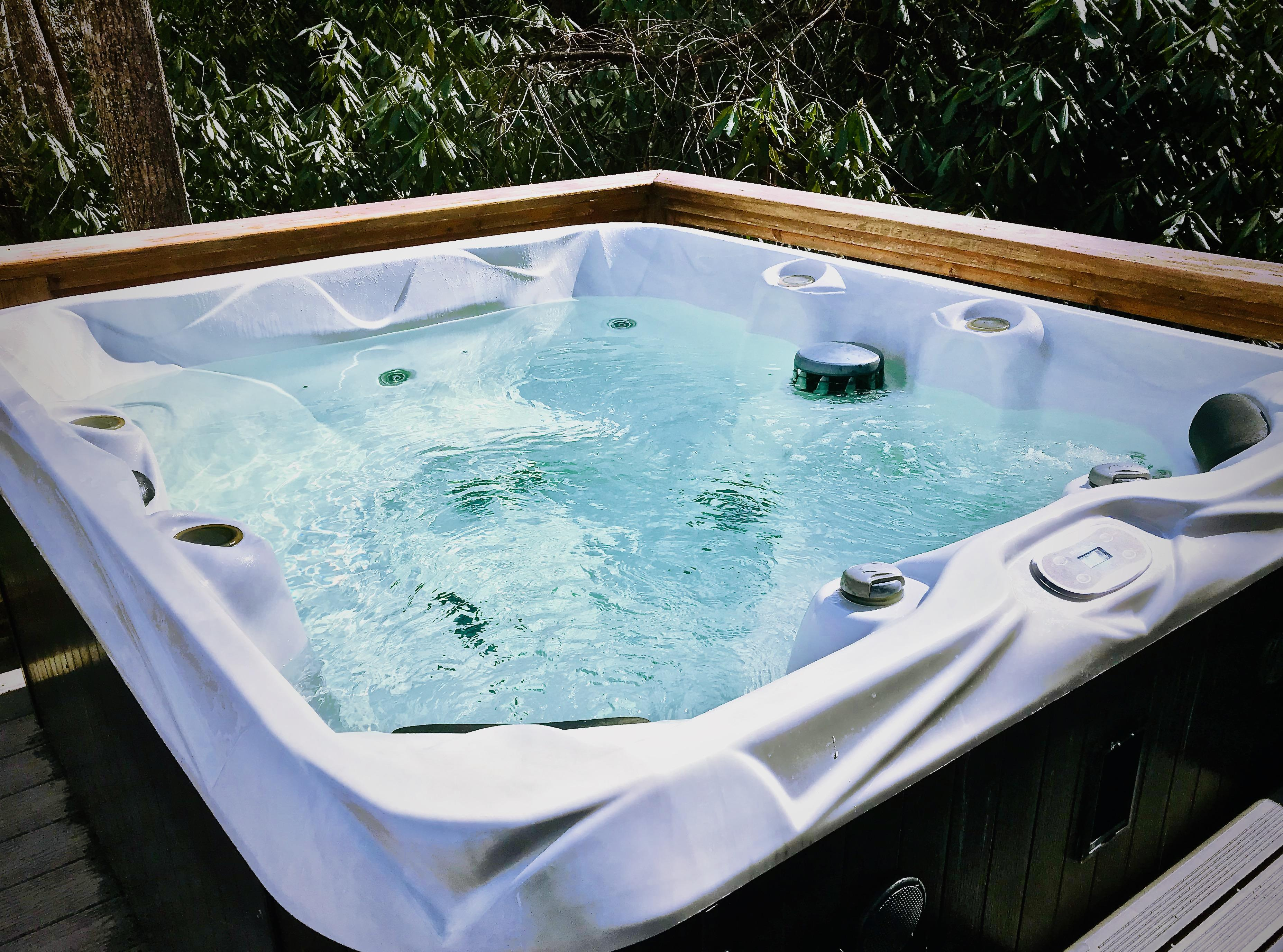Soothing and Sparkling Hot Tub awaits...