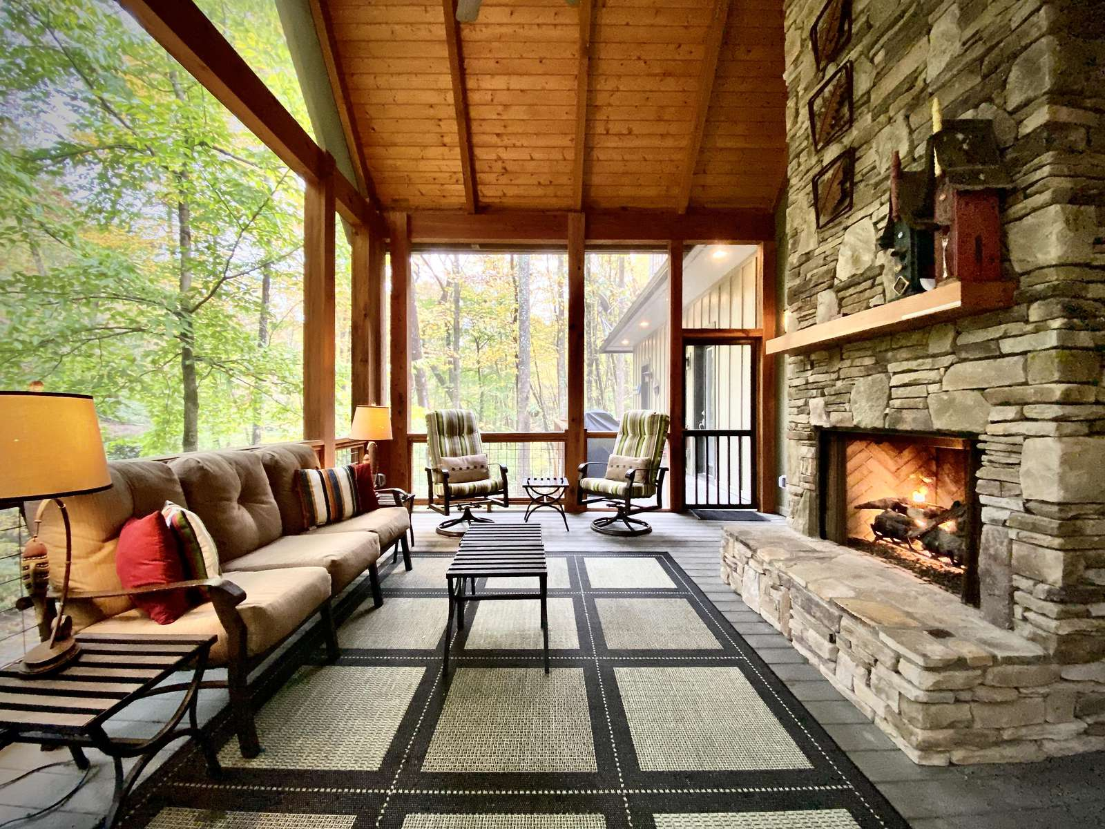 Enjoy Nature and the Gentle Warmth of the Outdoor Fire Place