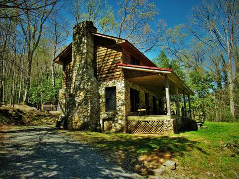 parkway cabin cabins tubs rentals vacation rock blowing hot creek entrance fcc stream boone trout nc ridge log blue gated to