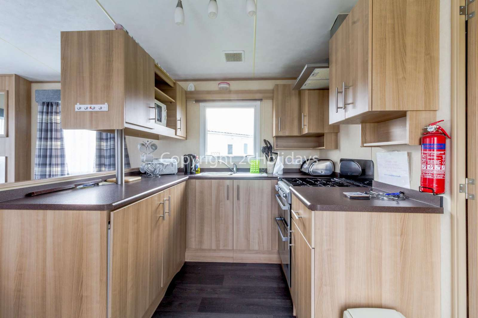 Fully equipped kitchen, perfect for self catering holidays!