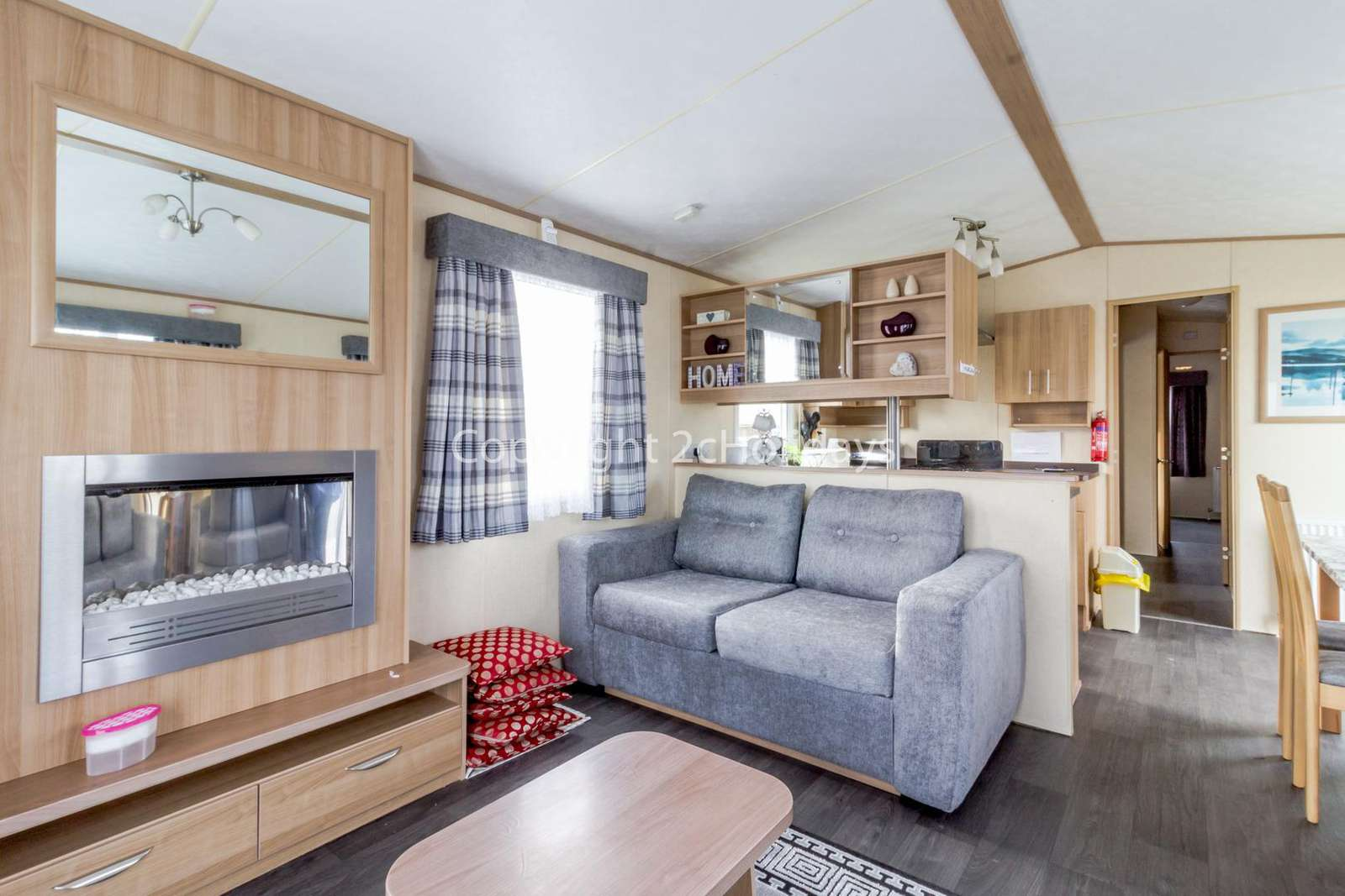 Homely feel to this holiday home with an electric home