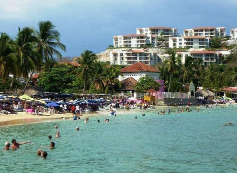 View of development from Playa Santa Cruz