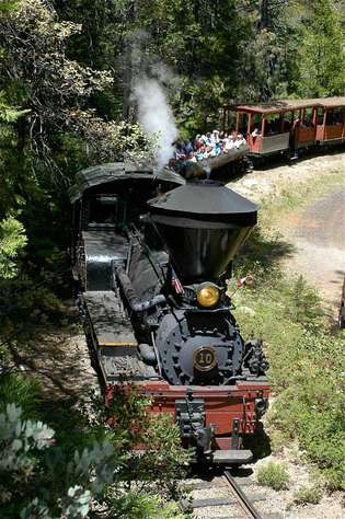 Ride the Sugar Pine Railroad.  (summer only)