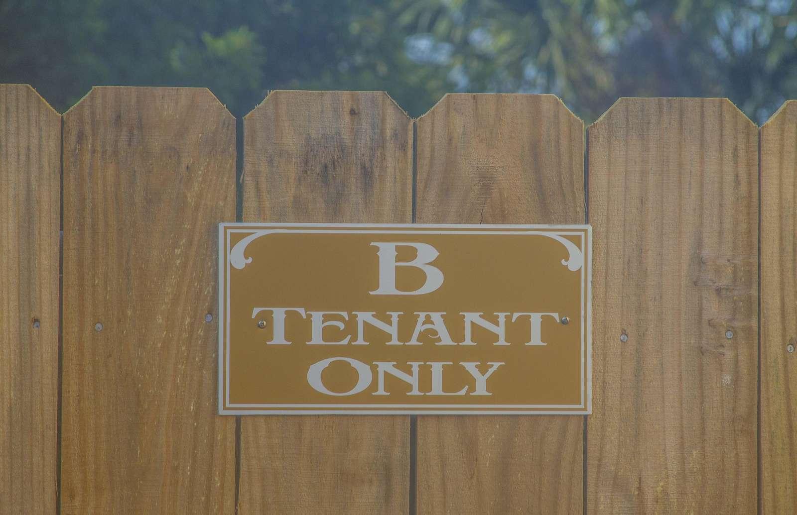 B Unit - Private Backyard