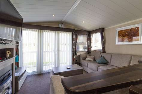 Stunning modern caravan rent two caravans together with the caravan next door