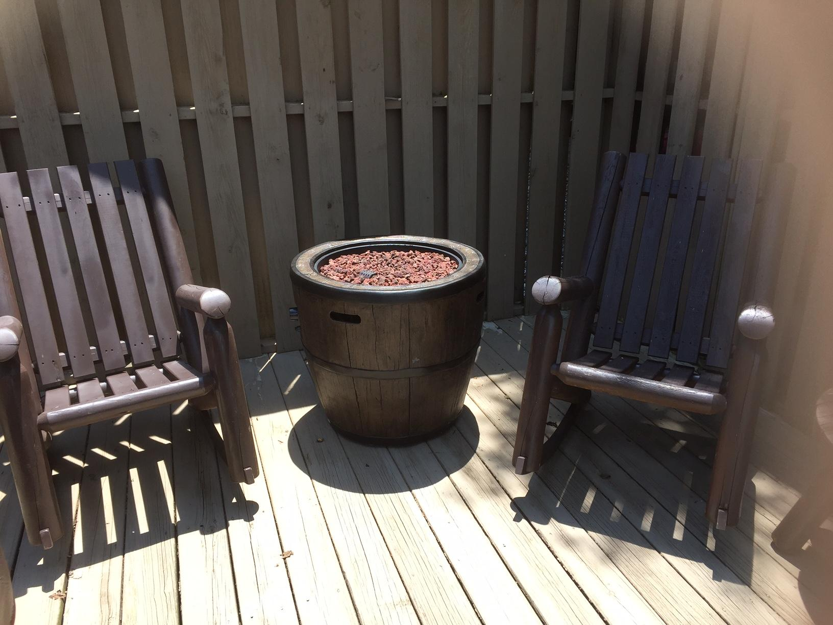 Outdoor Fire-Pit is ideally placed to Enjoy the Views!